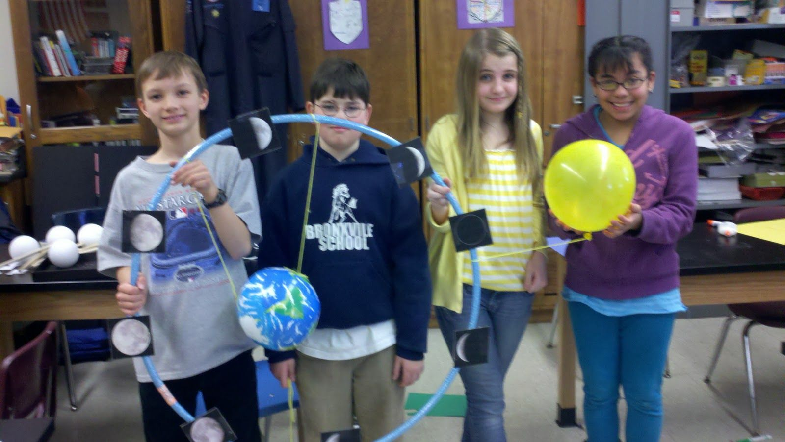 Sixth Grade Moon Phase Model Project