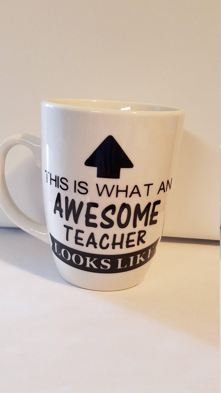 684761ce699 Awesome Teacher Coffee Mug Decal Teacher Appreciation End of School ...