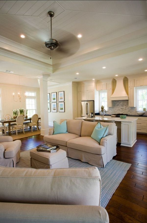 Open concept with the kitchen, living room and dining room ...