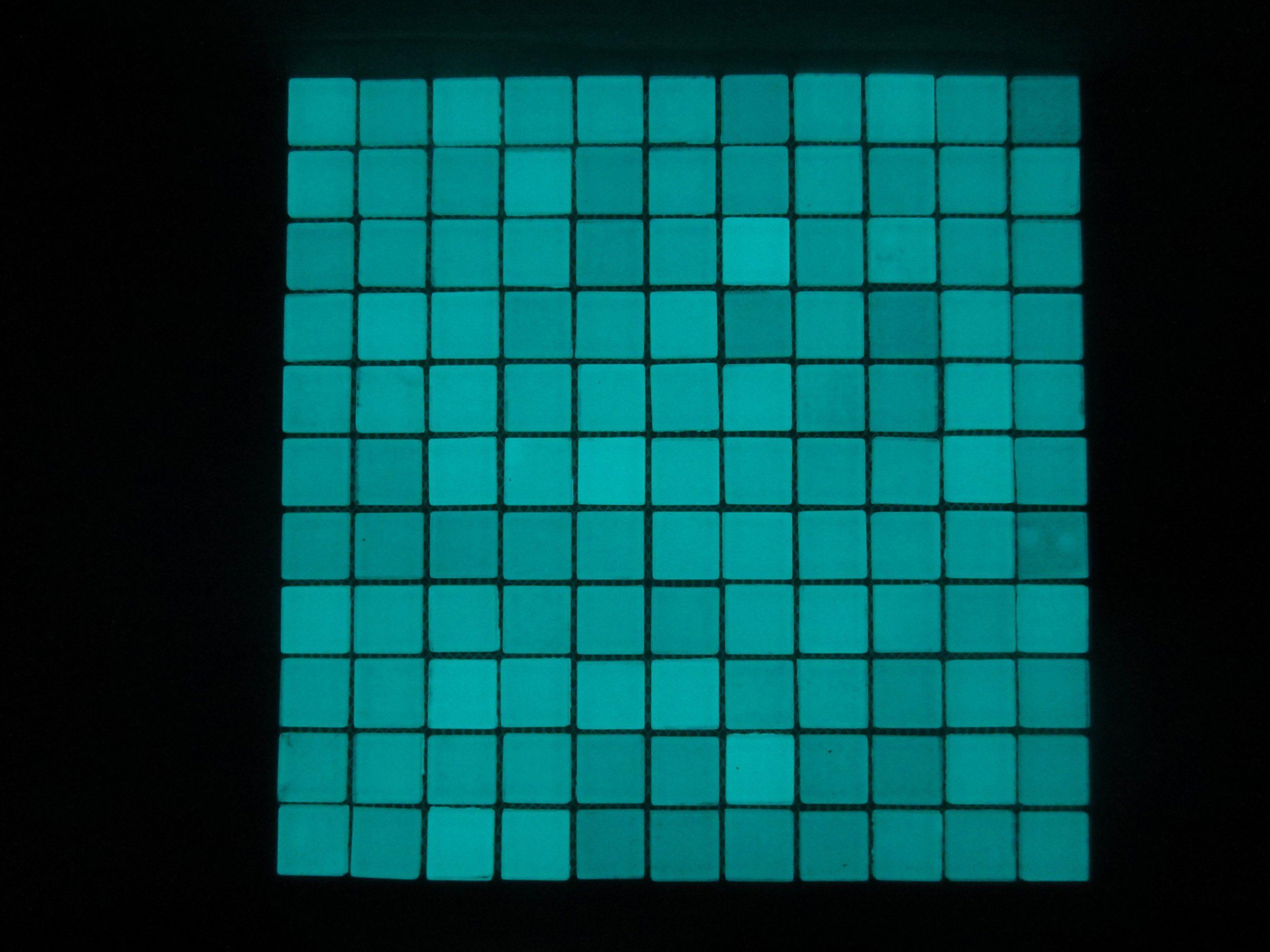 ELI Mosaik Fliesen–Glow in the Dark, super-grade Strontium Fliesen: Amazon.de: Küche & Haushalt
