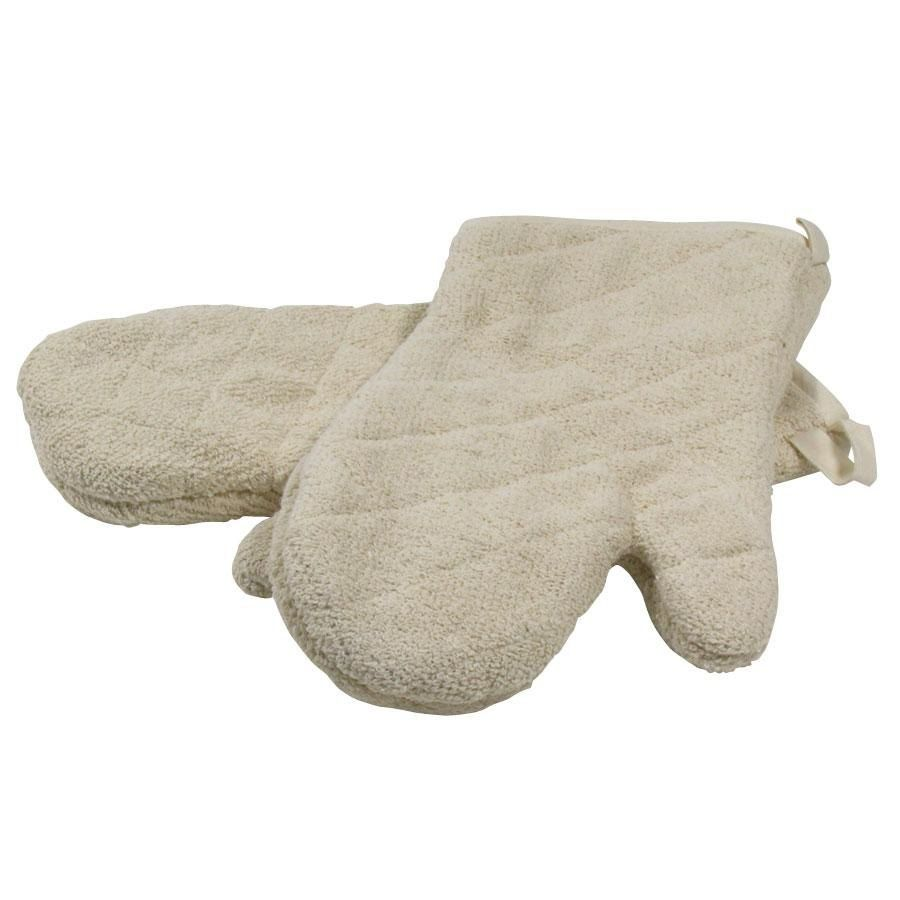 """Choice 15"""" Terry Oven Mitts - Pair"""