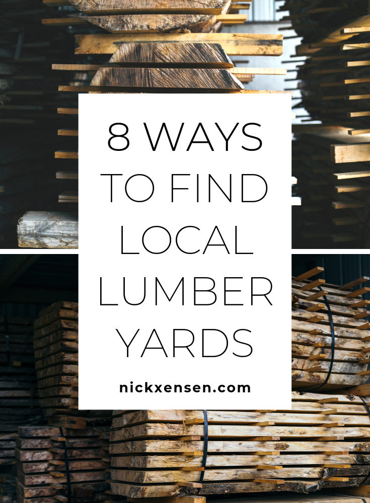 8 Ways To Find Local Lumber Yards For Your Woodworking Business Woodworking Woodworker Woodshop Lumber Carpenter Wood Shop Lumber Woodworking