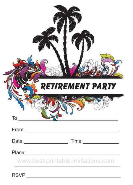 Retirement Party Invitation - Free printable party invites from www - best of free invitation templates for retirement party
