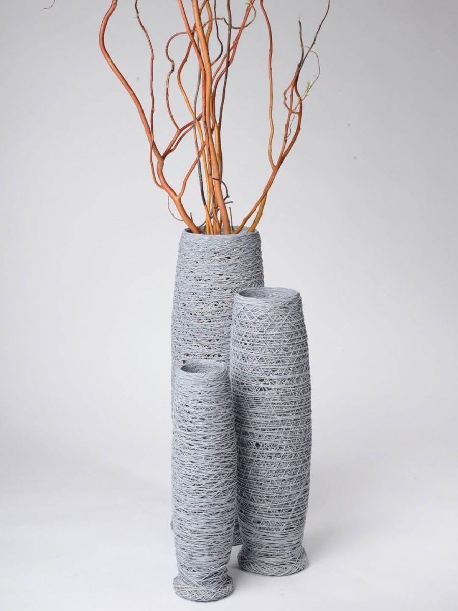 amaris elements 3er set deko vasen baumwolle kaufen im borono, Wohnzimmer dekoo