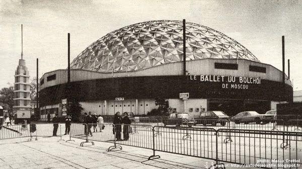 As tu d j oubli 50s 60s 70s architecture futuristic - Porte de versailles palais des sports ...