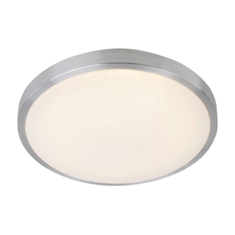 EEK A+, LED-Deckenleuchte 1-flammig - Kunststoff/Nickel matt - Led Deckenlampen Küche