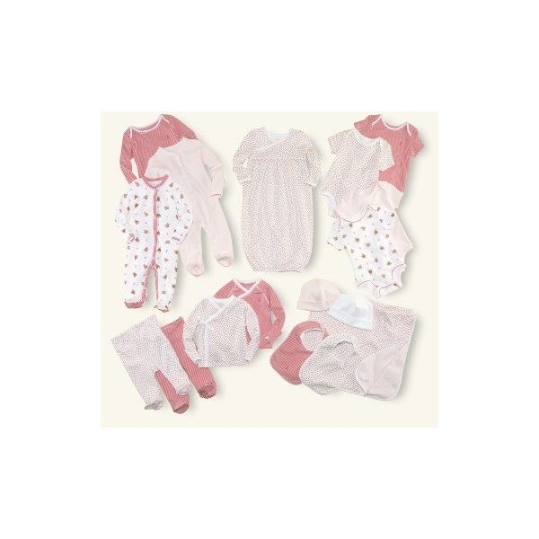 Ralph Lauren 17-Piece Girl Box Set ($300) ❤ liked on Polyvore featuring baby and delicate pink