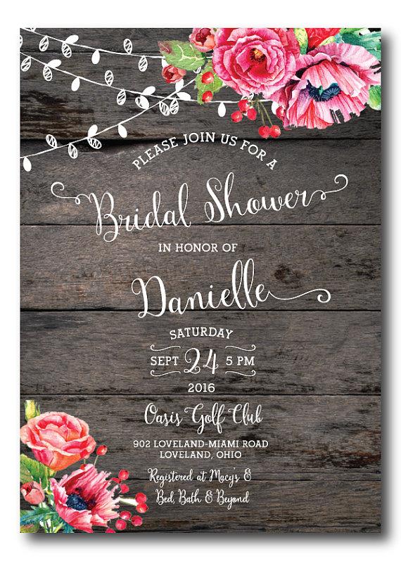 Wedding Shower Invitation Template Printable Bridal Br