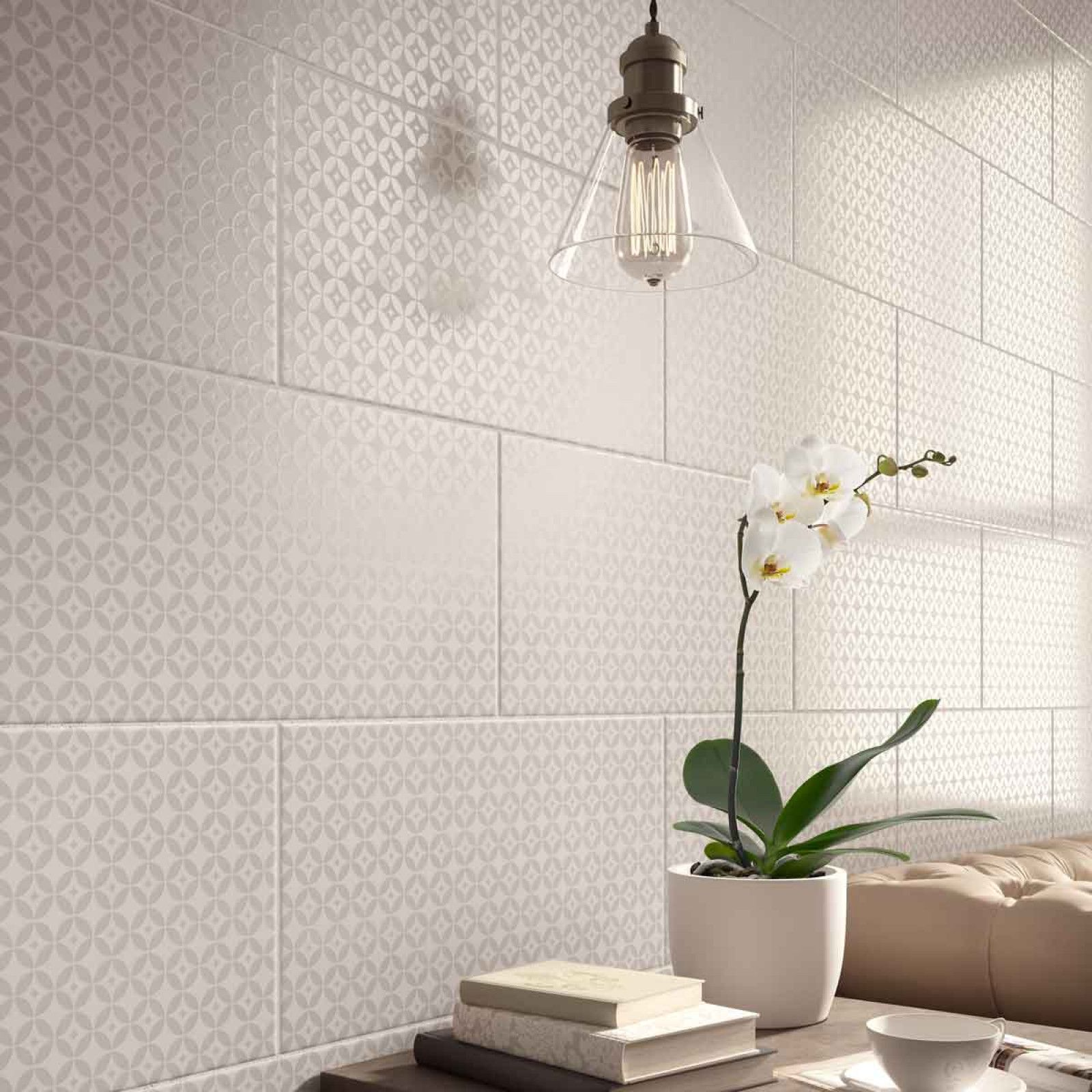 Finsbury gloss ceramic wall tiles are part of the white collection finsbury gloss ceramic wall tiles are part of the white collection and create a calm atmosphere dailygadgetfo Images