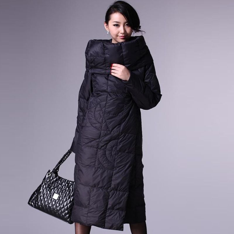 925c510f5e5 2013 winter newest stylish garment quilt imitation down coat women fashion  turndown collar x long or short designer duvet jacket-inOuterwear.