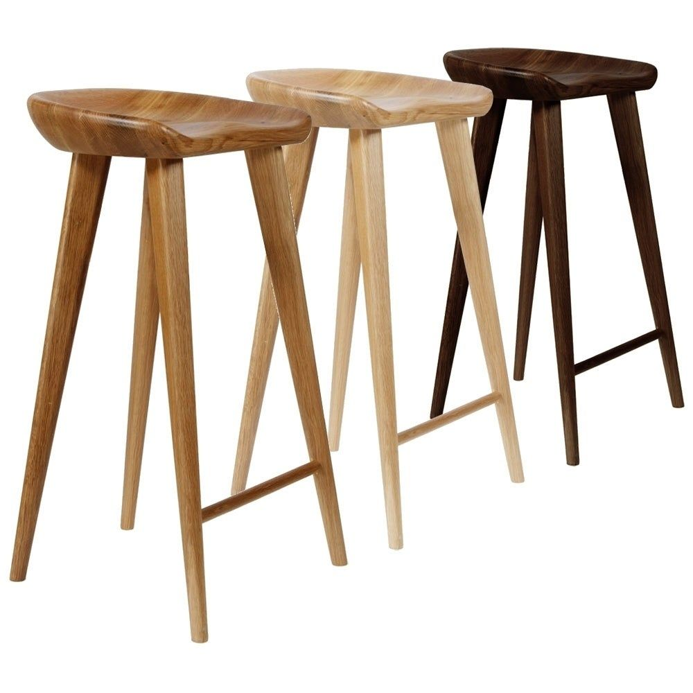 Brilliant Tractor Contemporary Carved Wood Barstool In Espresso As Is Gmtry Best Dining Table And Chair Ideas Images Gmtryco