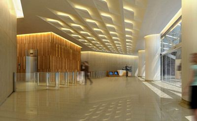 Raffles city tower asset enhancement initiative main for Small office entrance design