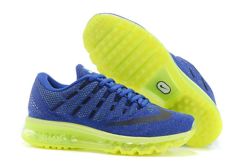 Mens nike air max 2016 shoes yellow blue hot sales