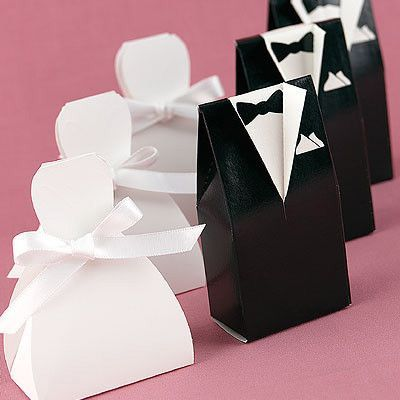 Photo of Groom's Tuxedo Wedding Favor Box (Pack of 25)