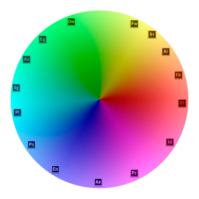 The New Adobe Cs6 Branding Color Wheels Adobe And Design Tutorials
