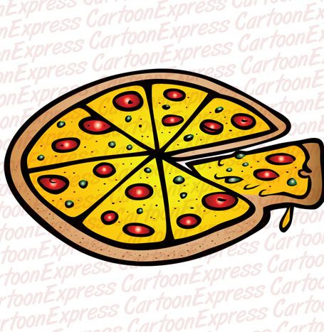 Cartoon Vector Illustration Of A Pepperoni Pizza Pizza Cartoon Cartoons Vector Vector Illustration