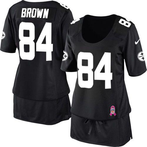sale retailer 749ee 3bc9d Women's Nike Pittsburgh Steelers #84 Antonio Brown Elite ...