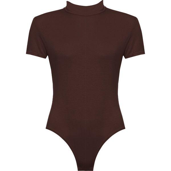 Maude Basic Turtleneck Bodysuit ( 19) ❤ liked on Polyvore featuring  intimates bfe36ca140d7