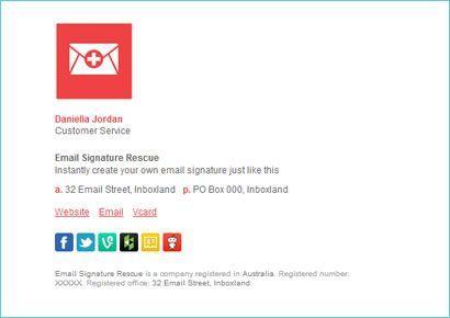 design email signature
