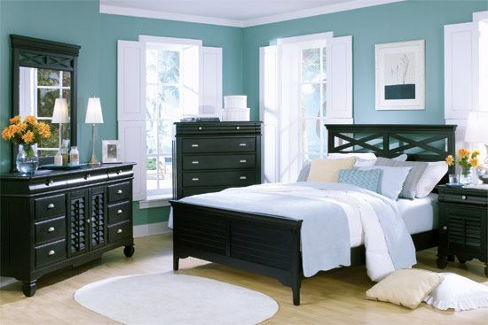 Plantation Cove Black 5-PC King Panel Bedroom Package My Dream