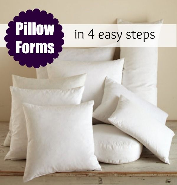 Pillow Form Insert: Printable Size Chart | Costura, Fundas de ...