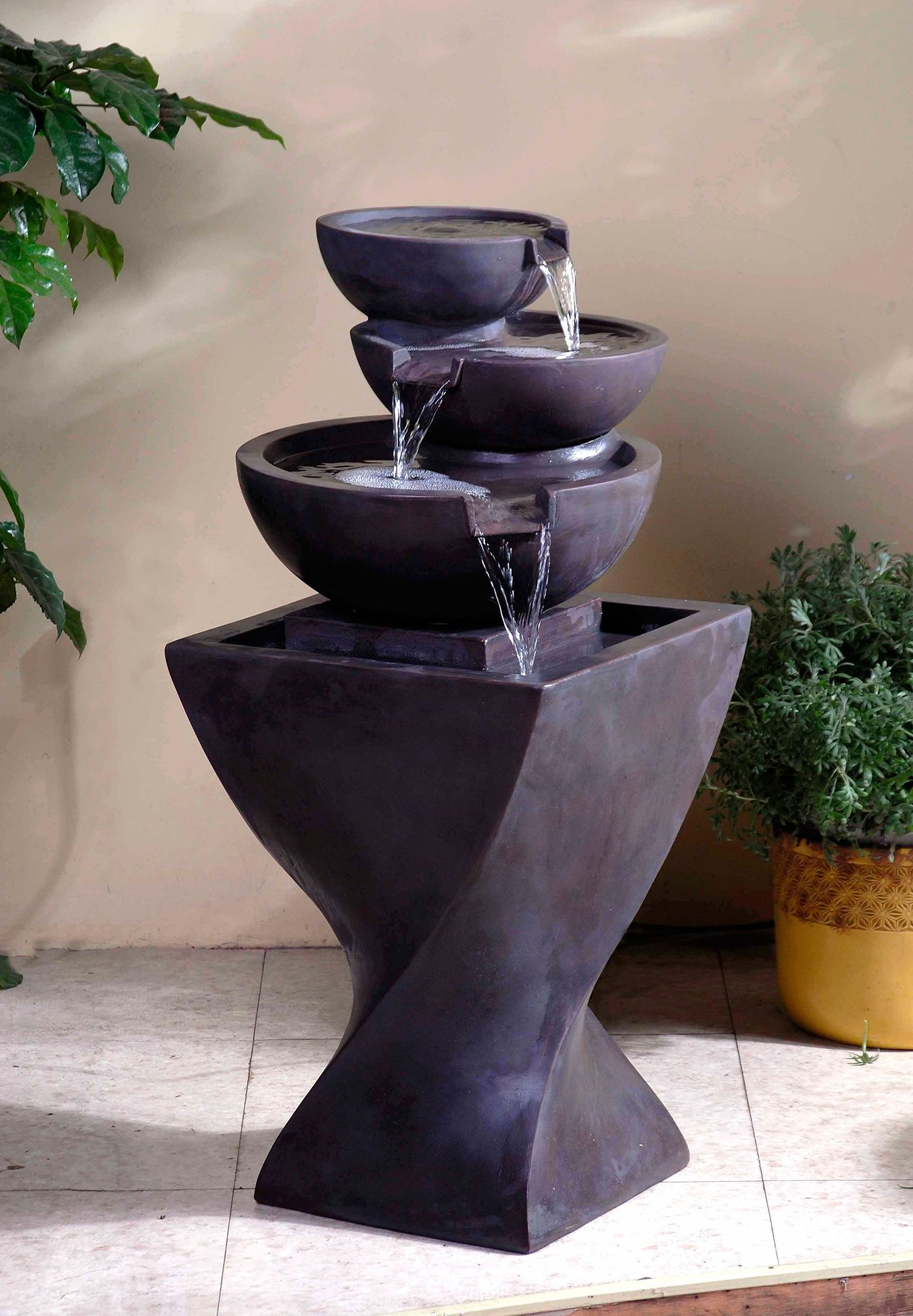 Builddirect Kontiki Water Features Faux Stone Fountains Water Fountains Outdoor Indoor Water Fountains Garden Water Fountains