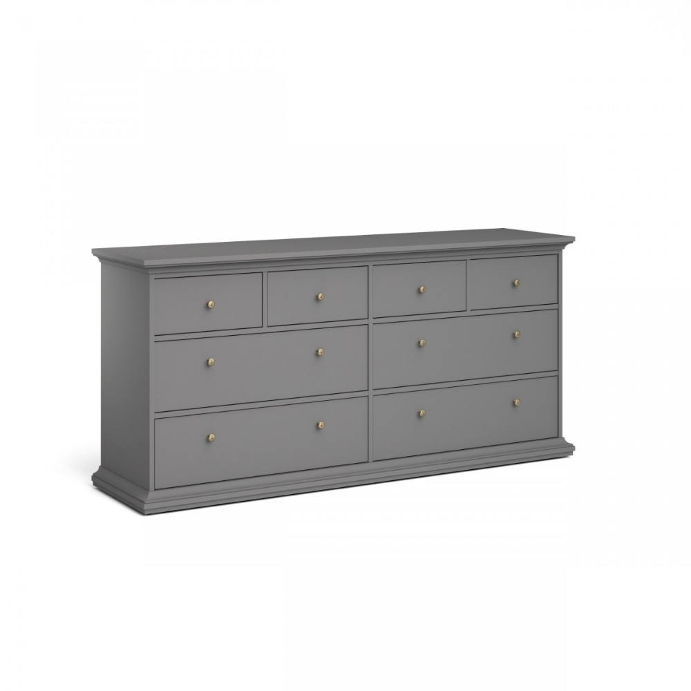 Kommode Pariso (4+4 Schubladen, matt grau) (mit Bildern