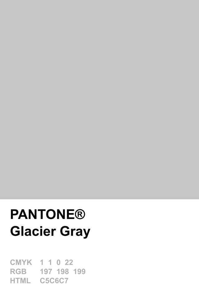 Glacier Grey Gris Pantone
