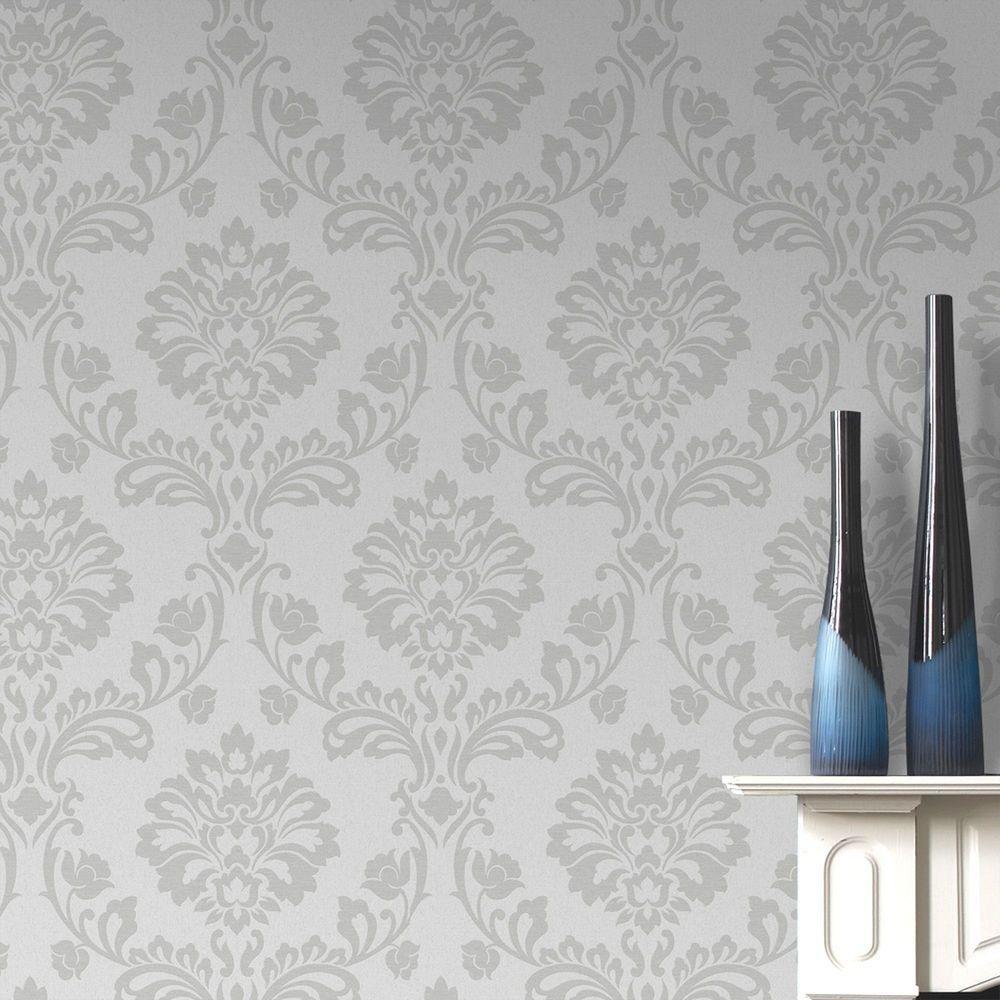 56 sq. ft. White Aurora Wallpaper | Products