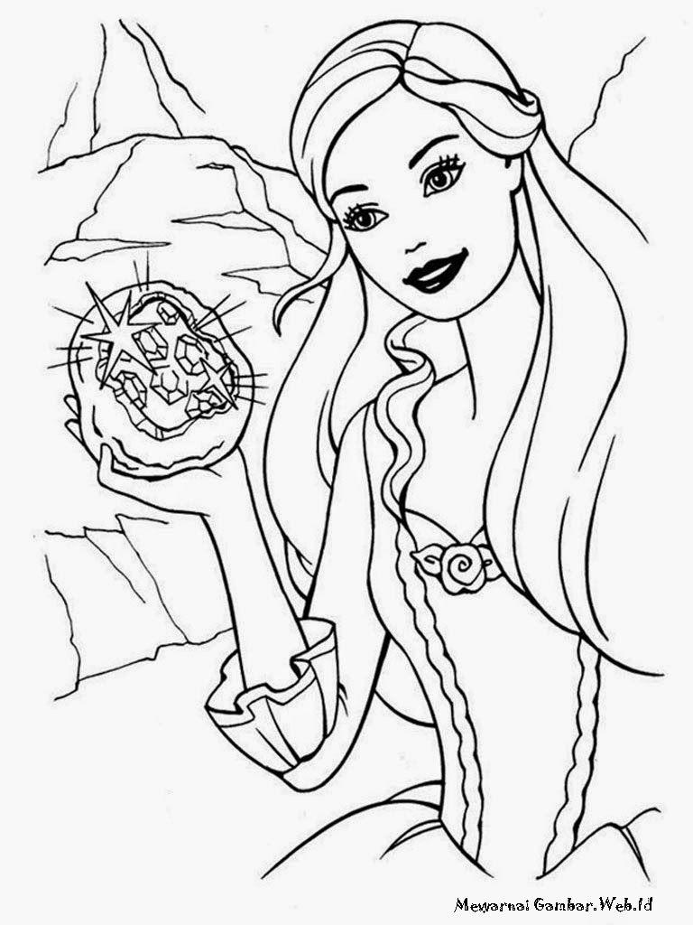 Lembar Mewarnai Barbie Fashion Fairytale Jpg 768 1024 Barbie Coloring Pages Princess Coloring Barbie