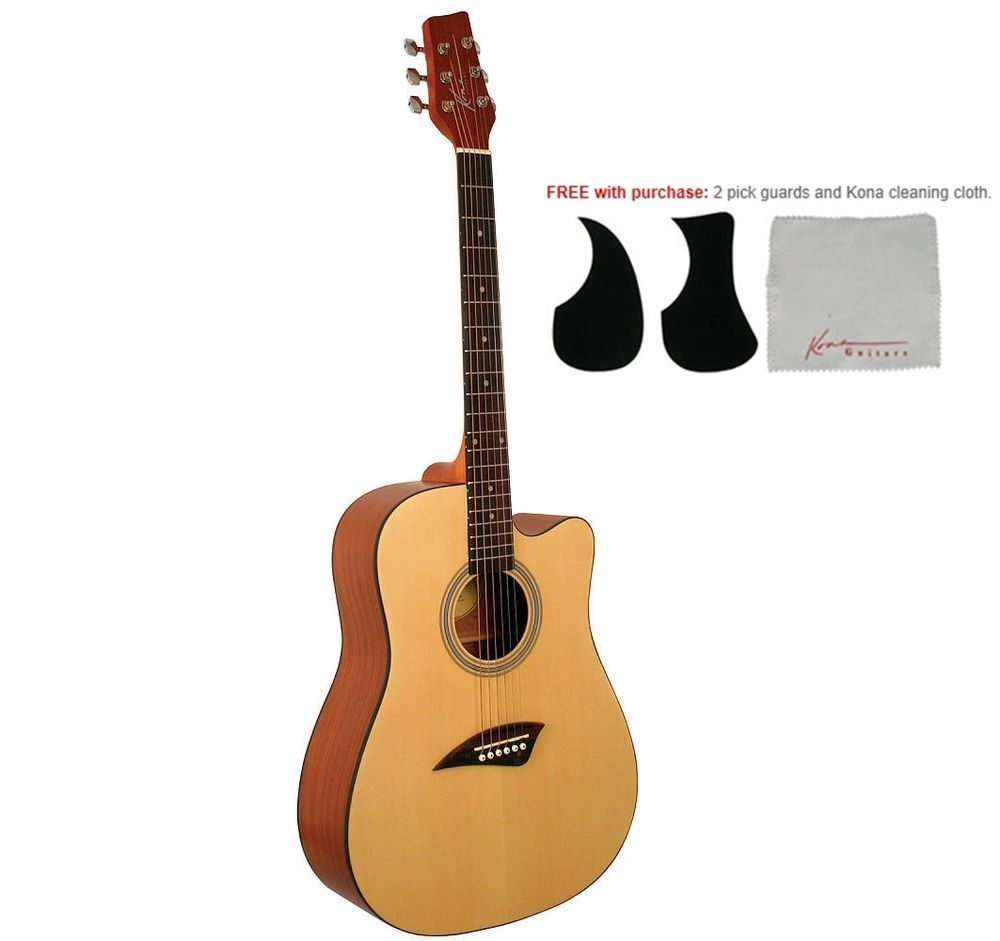 Kona K1 Dreadnought Acoustic Guitar With Spruce Top Satin Finish Kona Guitar Acoustic Guitar Acoustic