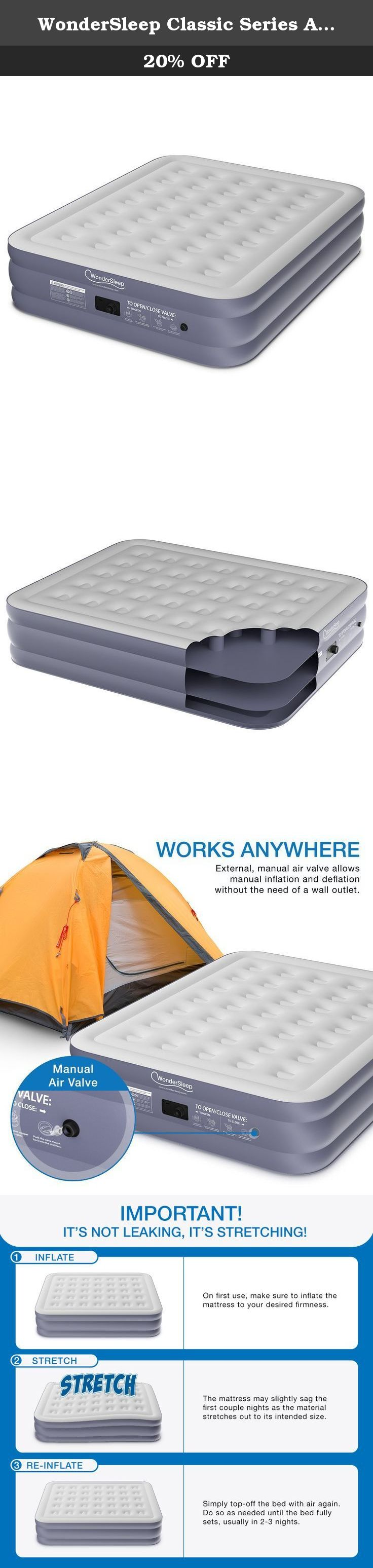 more photos 4acc1 aacbc WonderSleep Classic Series Air Mattress with DreamCoil ...