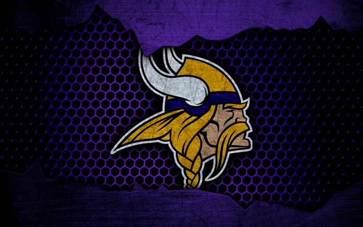Download wallpapers Minnesota Vikings, 4k, logo, NFL