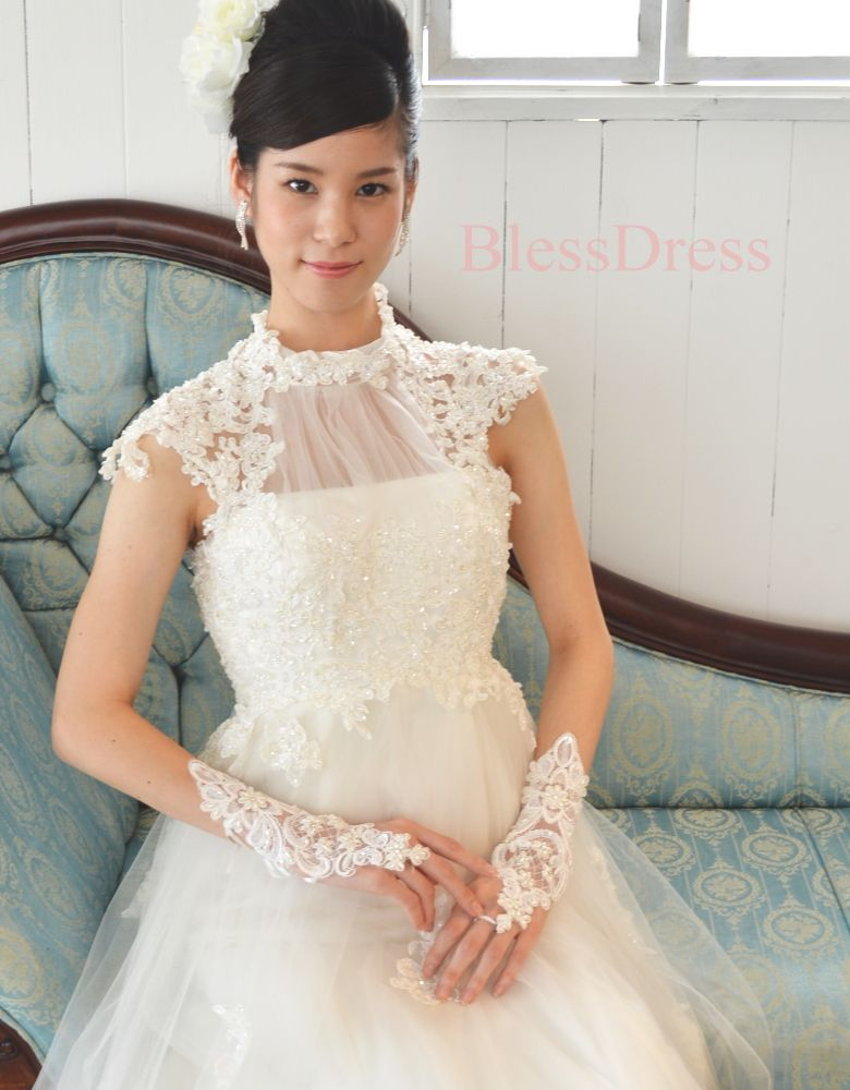 fbed4123cdfbb レースのウェディング · 女の子のドレス ·  楽天市場 編み上げレースアップ☆フィンガーレスショートグローブ 高品質!