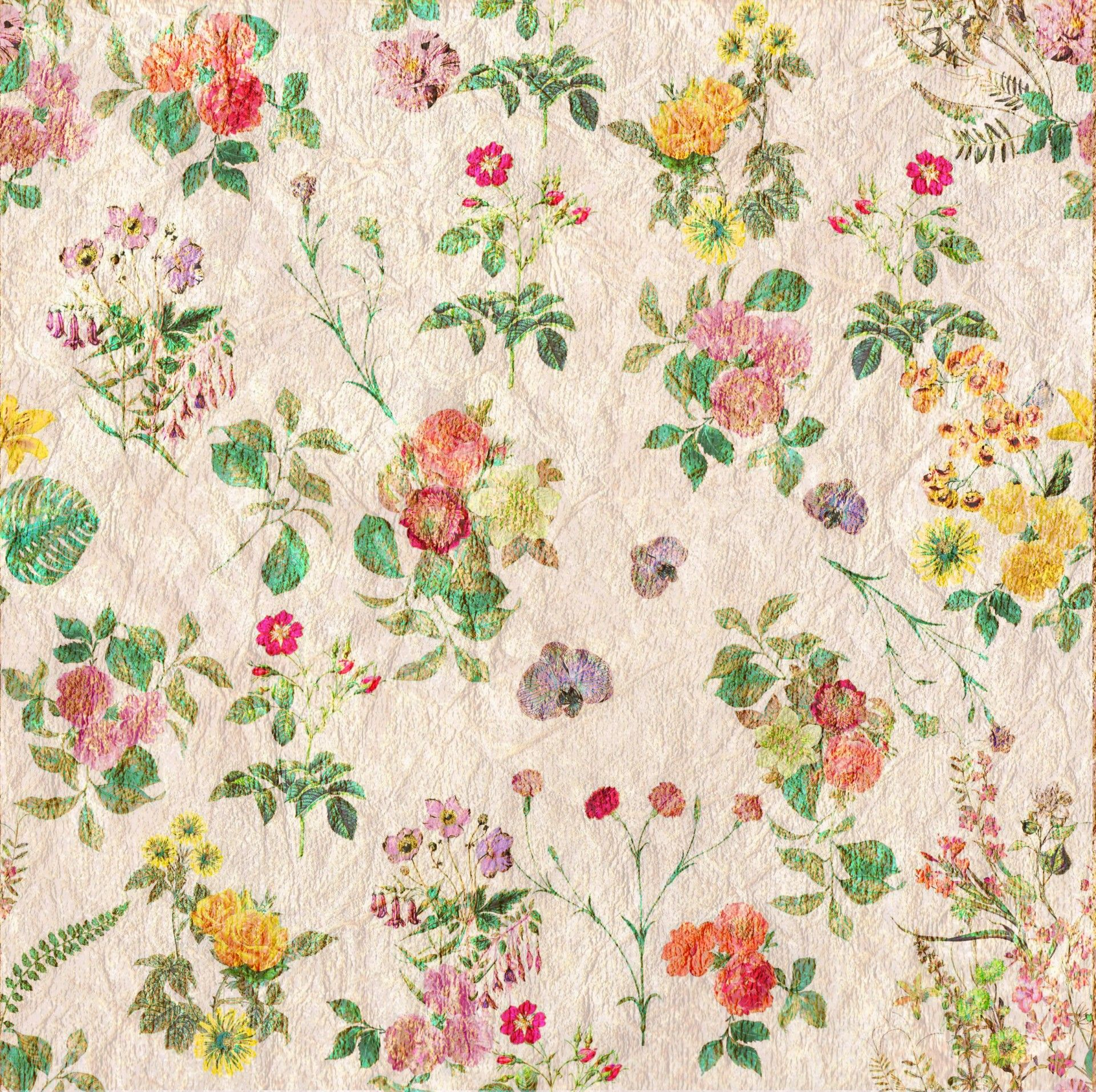 Vintage Flowers Wallpaper
