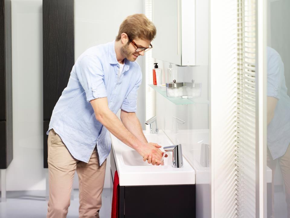 Oras Optima berøringsfri armatur - når hygiejne og vandbesparelse skal gå hånd i hånd
