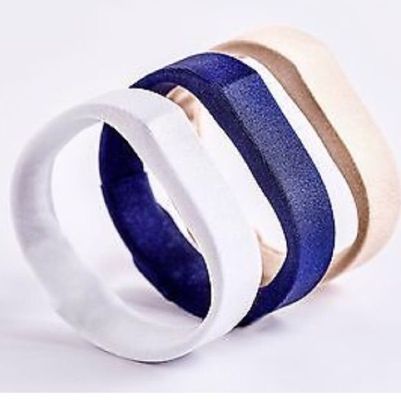 Fitbit covers Three fabric Fitbit charge and charge hr covers - gold, white, navy Other