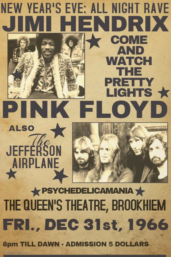 concert poster template jimi hendrix pink floyd click on the