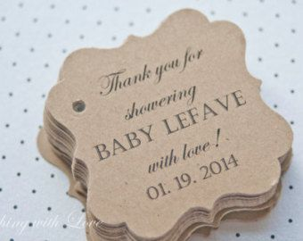 baby shower gift tagsbaby shower paper goodsthank you tags due for