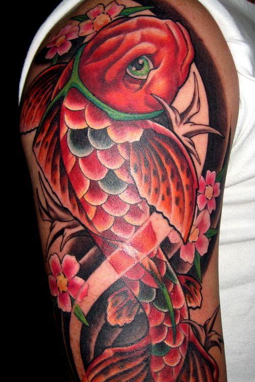 Color15 Tattoo Carpa Tatoo Koi