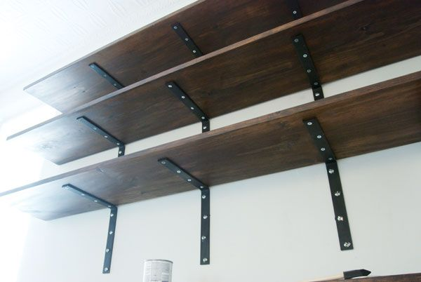 Make These Shelves Easy L Bracket Shelves Bookshelves Diy Diy Shelves Easy Shelves