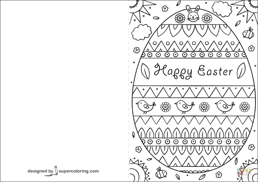Happy Easter Card Coloring Page Free Printable Coloring Pages Happy Easter Card Easter Cards Printable Easter Cards