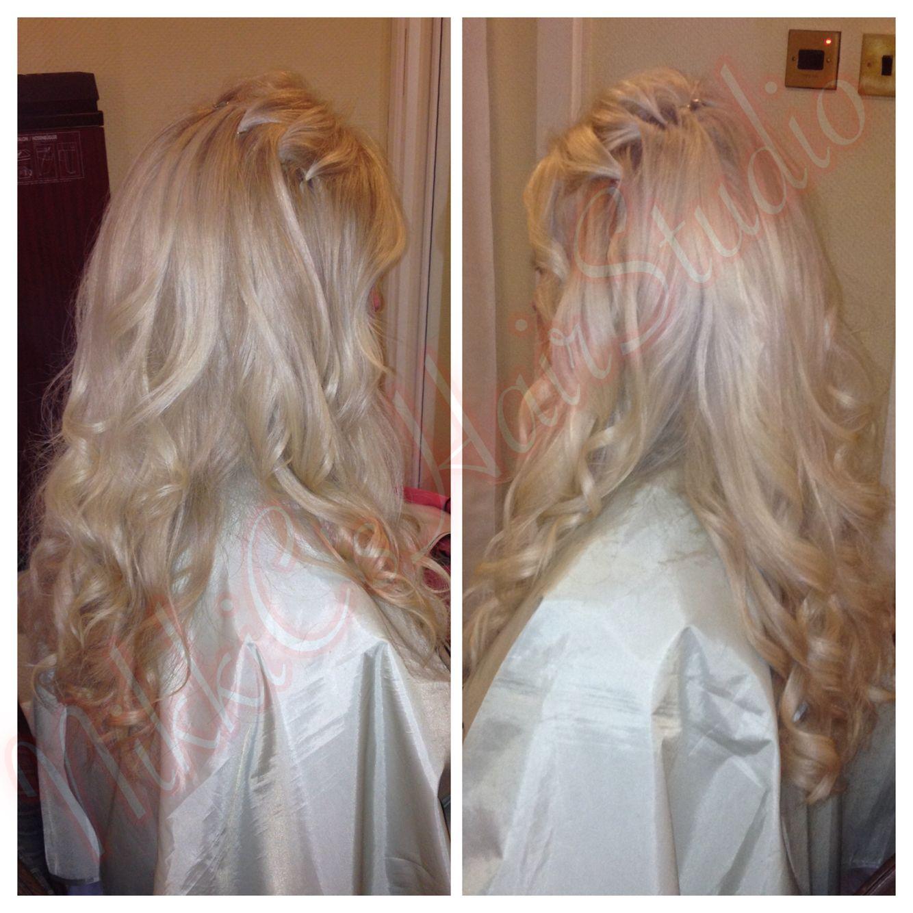 Bridal hair - Carly on her wedding day 2014