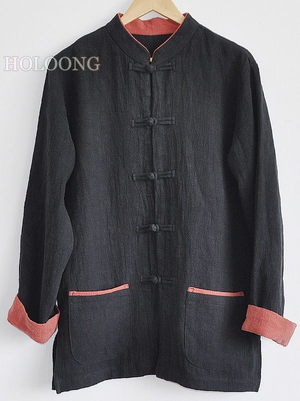 Designer Chinese costumes Classic ContrastColor Tang Jackets Men Loose Jackets