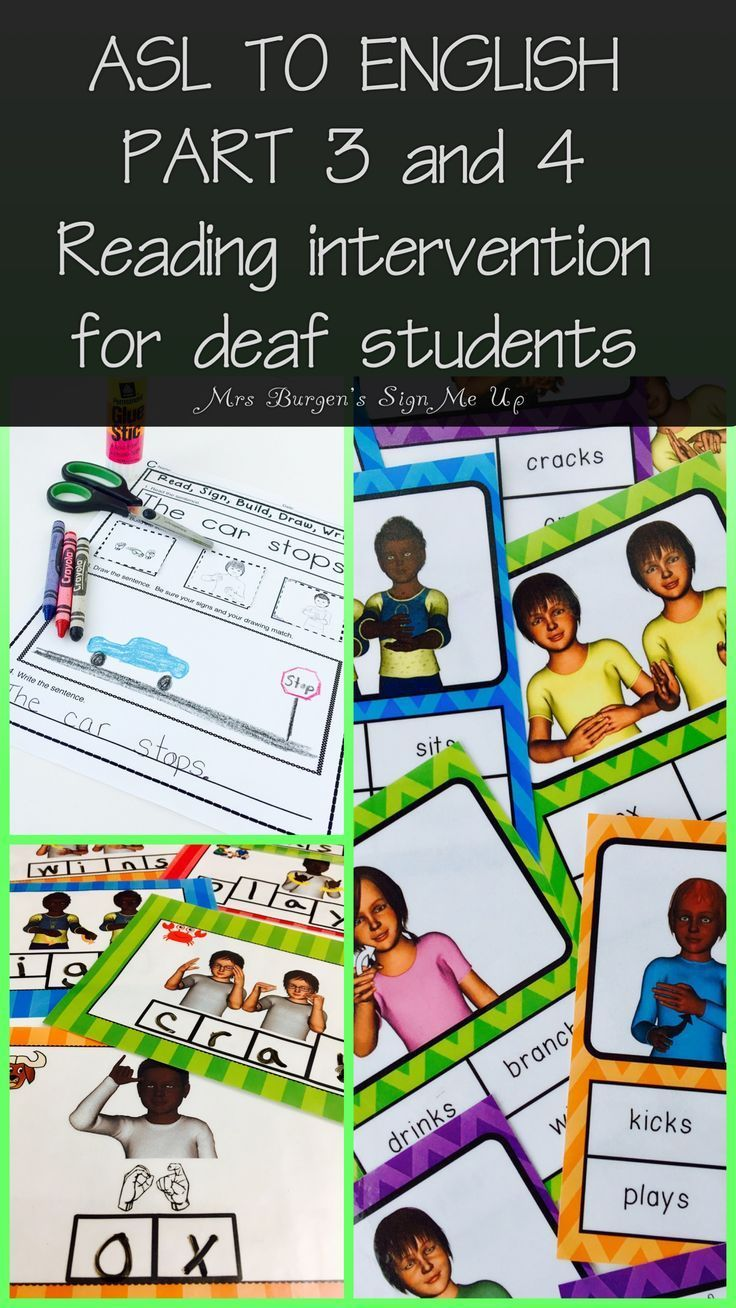 American Sign Language   Classroom materials for reading intervention
