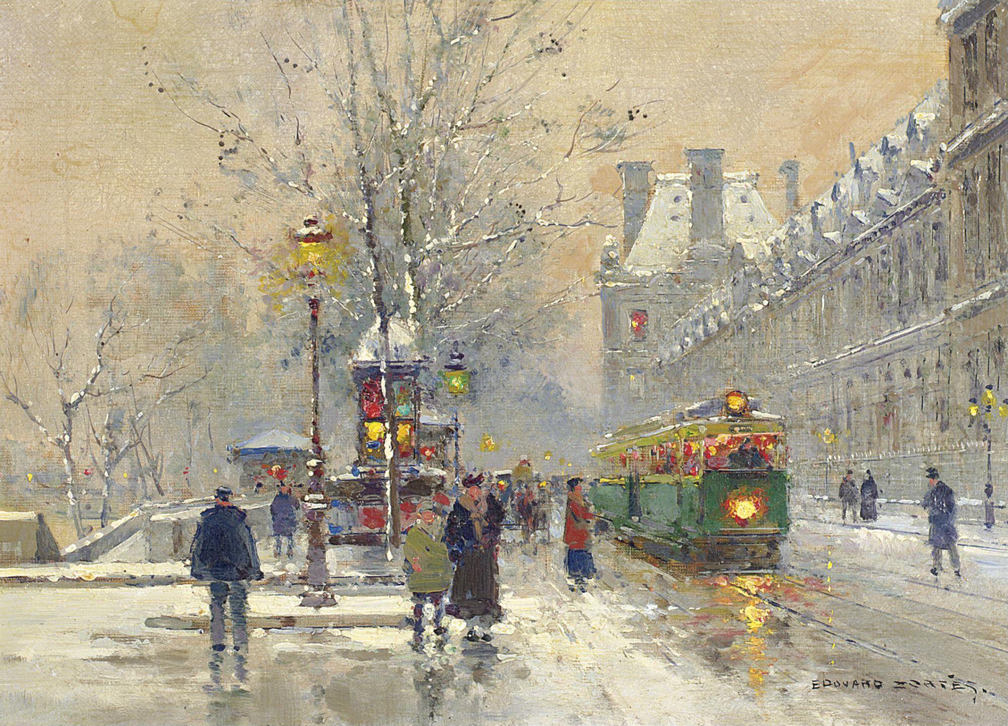 Набережная Лувра зимой Частная коллекция | Искусство ...