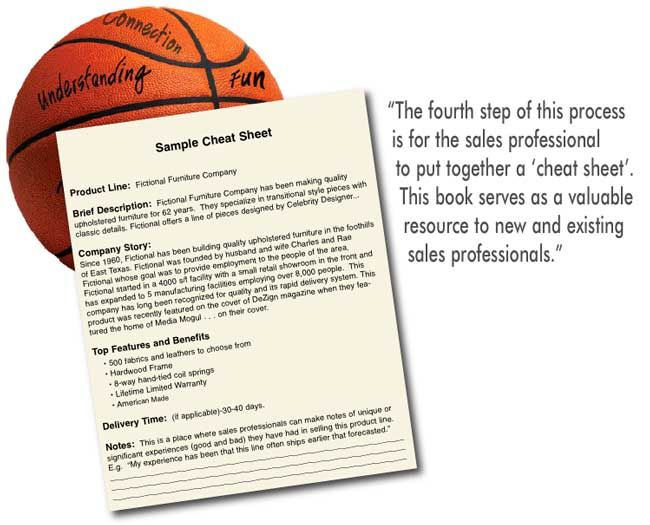 Building Your Dream Team By Teaching Product Knowledge Furniture - sample cover sheet
