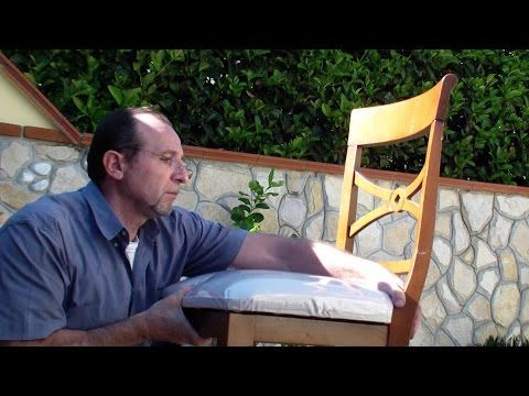 Come Tappezzare Una Vecchia Sedia. How To Upholster An Old Chair   YouTube