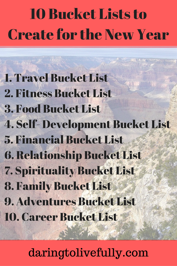 Here are 10 bucket lists to create for the New Year ...