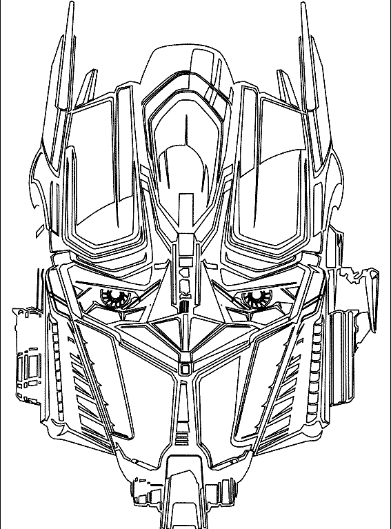 Face Optimus Prime Transformers Coloring Pages | Christian\'s 5th ...